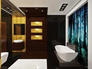 Bathroom Black Escape