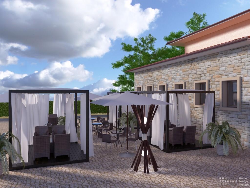 Outdoor cafe garden