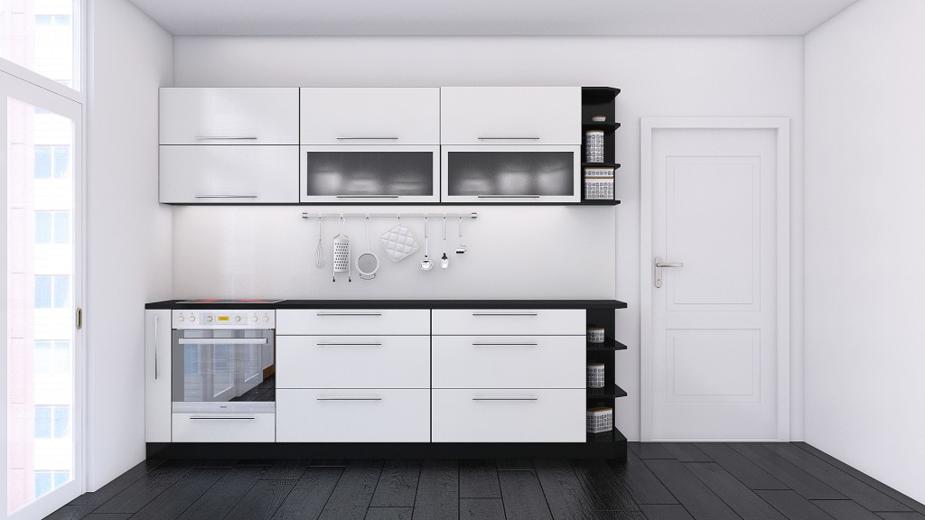 Black&white kitchen