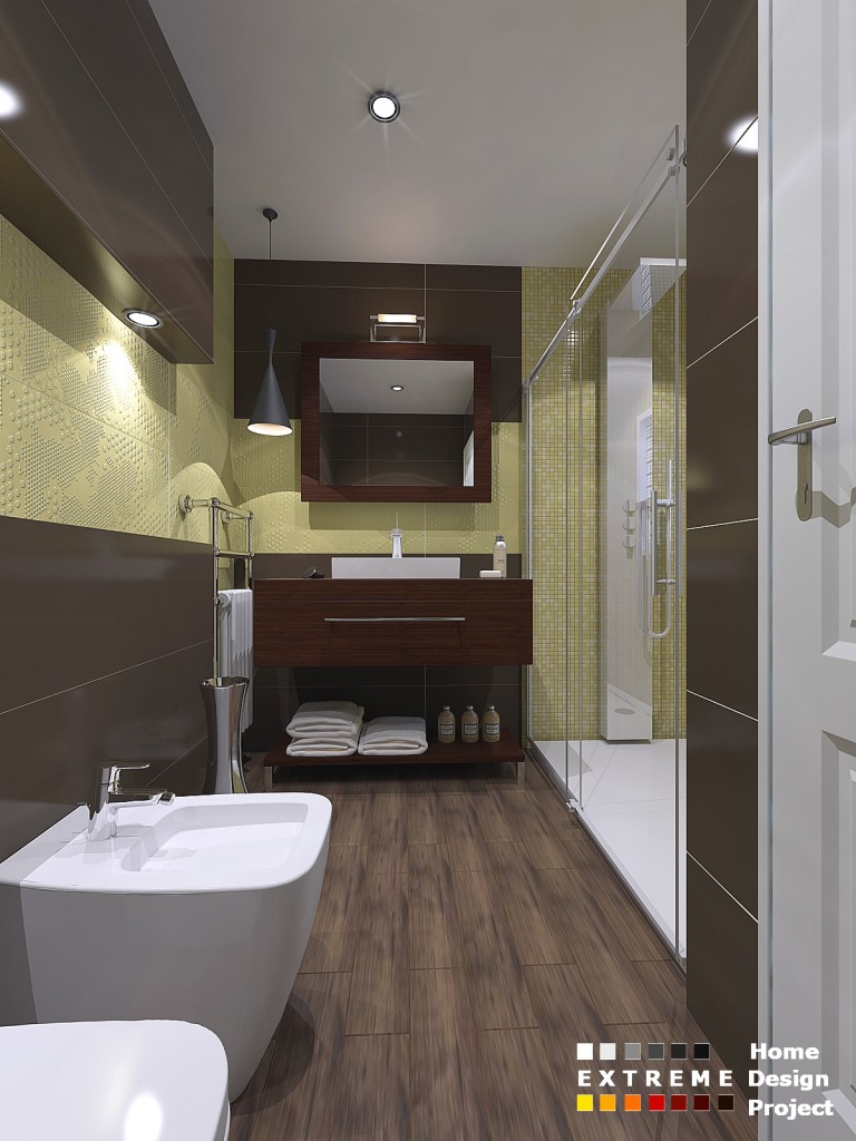 Yellow-braun bathroom isea