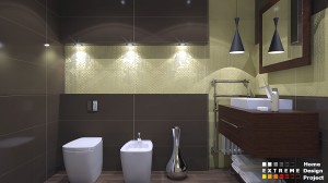 Yellow-braun bathroom isea