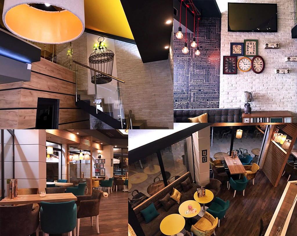 Urban cafe bar design