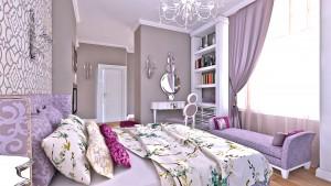 Woman bedroom sofa style
