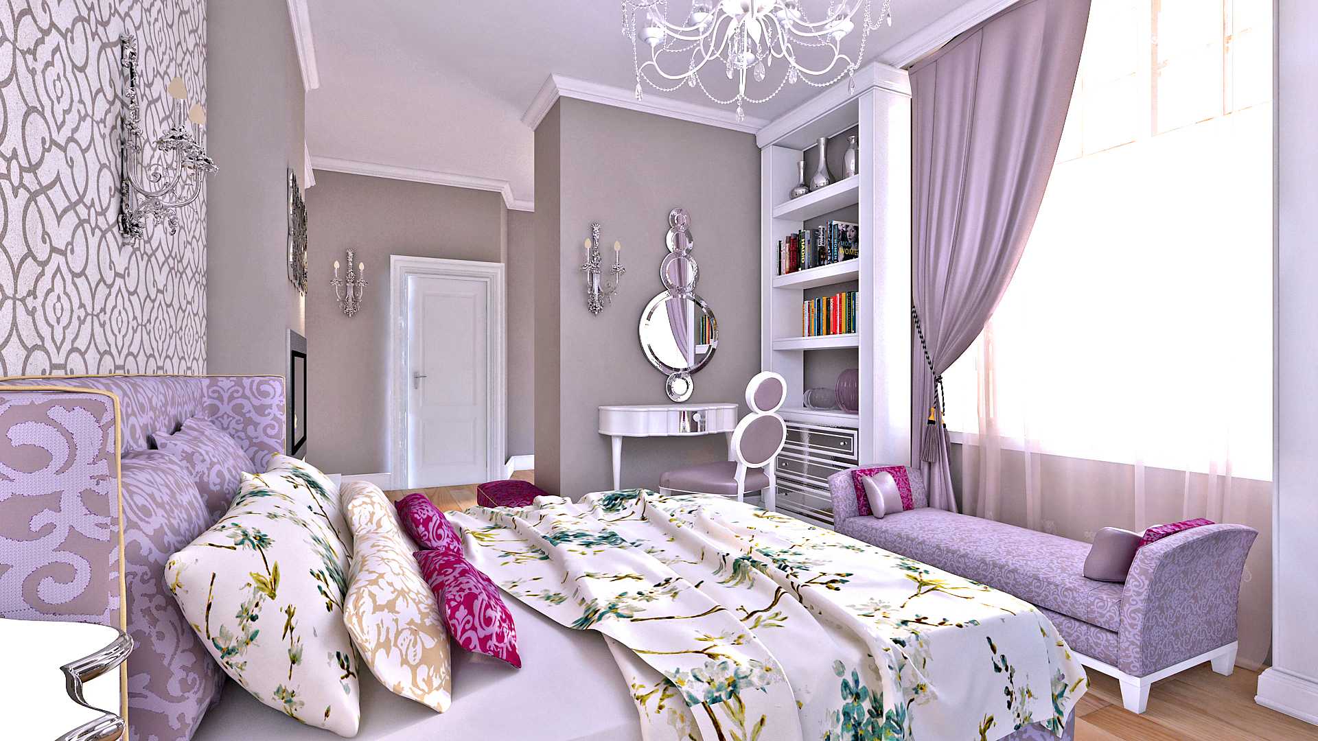Woman bedroom sofa style