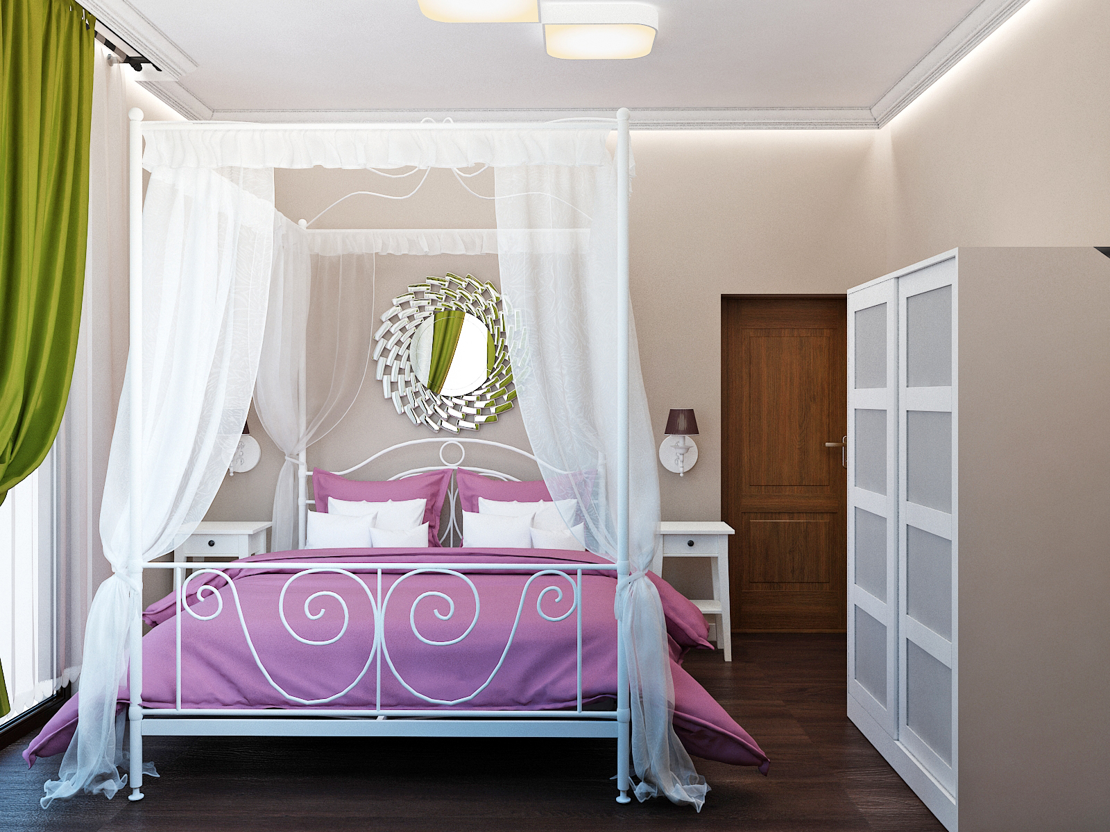 Romantic bedroom baldachin