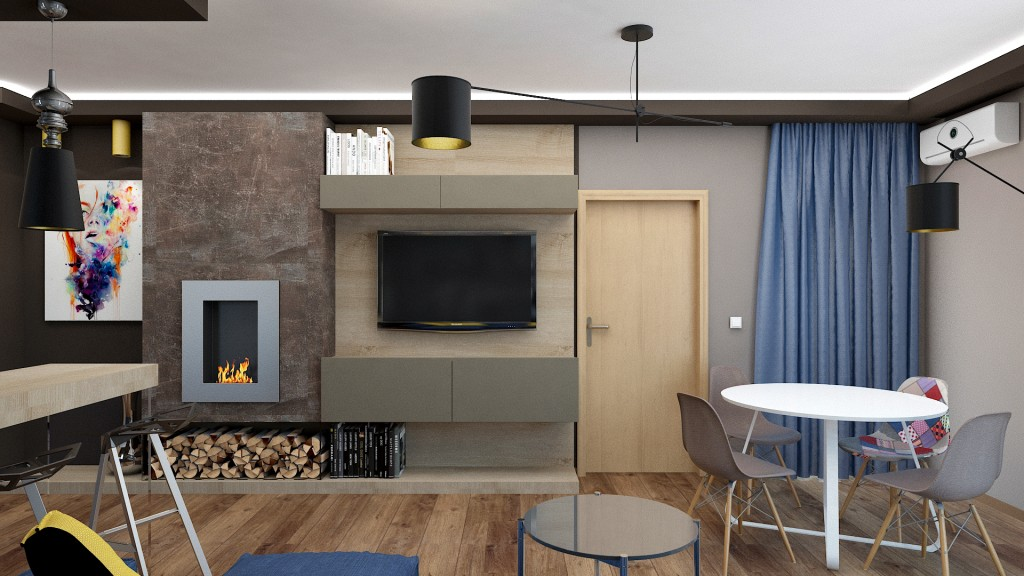 Masculine Appartment living room