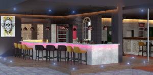 Bacardi hookah bar
