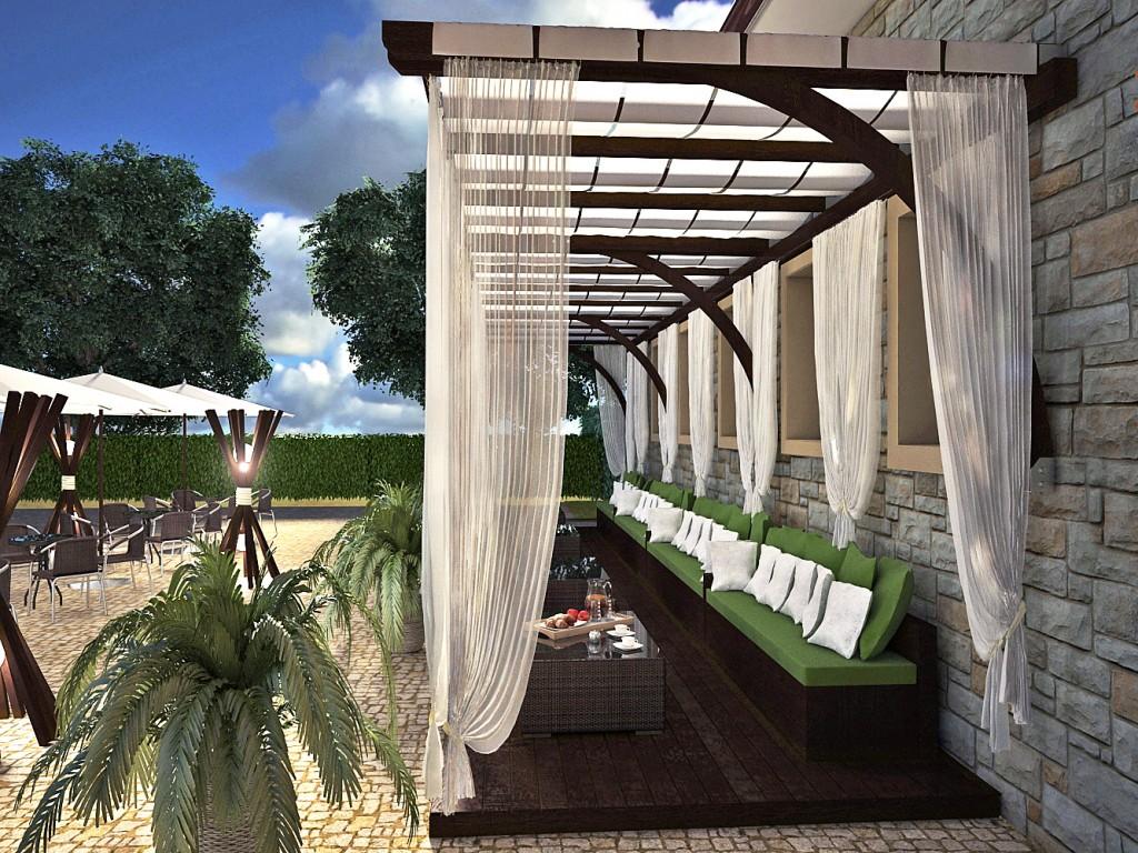 Pergula cafe outdoor garden