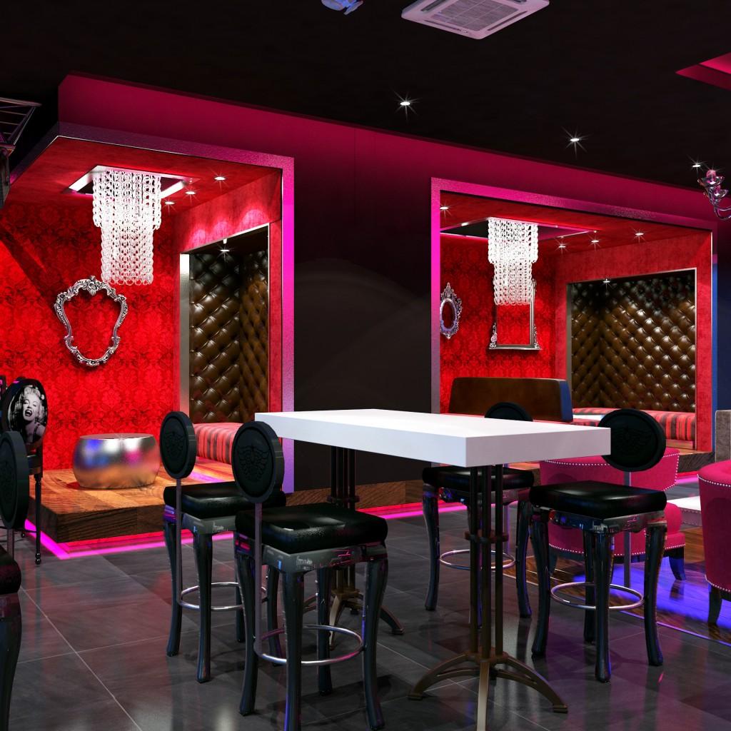 Blue martini bar diner