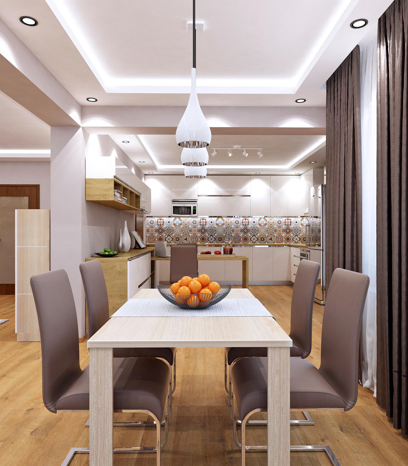 Интериорен проект на апартамент от 120 кв.м.