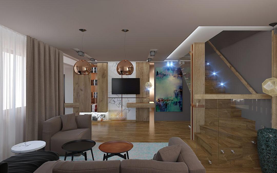 Интериорен проект на двуетажно еднофамилно жилище